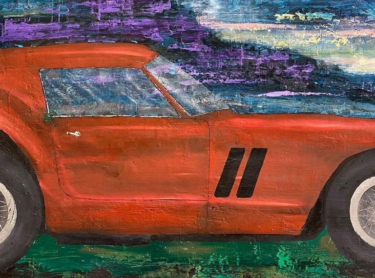 Ferrari GTO 250, original 30x40 contemporary pop art landscape  For Sale 2