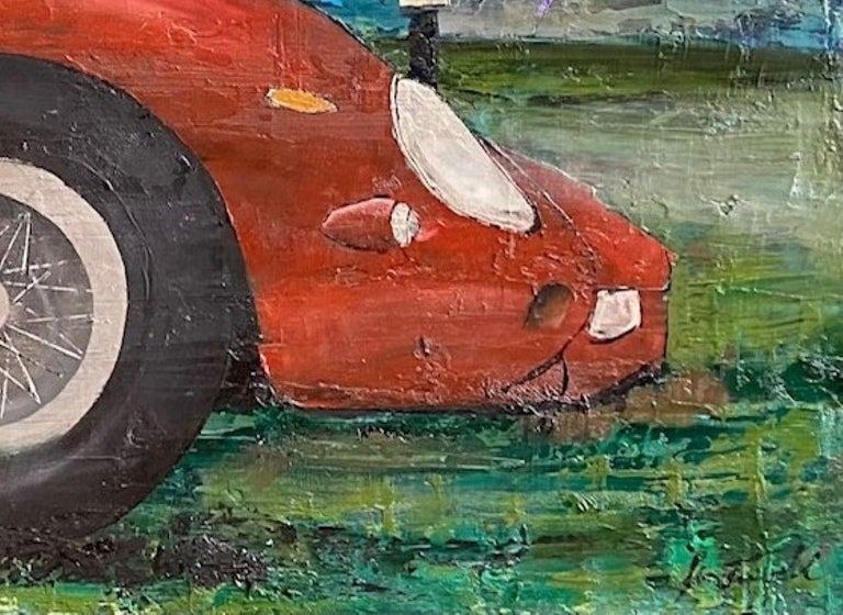 Ferrari GTO 250, original 30x40 contemporary pop art landscape  For Sale 3