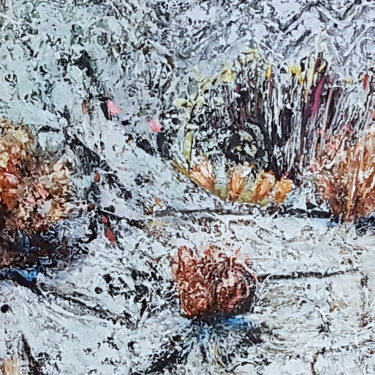 Frozen Pond  - Abstract Impressionist Painting by Jim Waid
