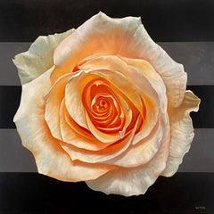 """Mandala for Love"" - floral painting - stripes - realism - Georgia O'Keeffe"