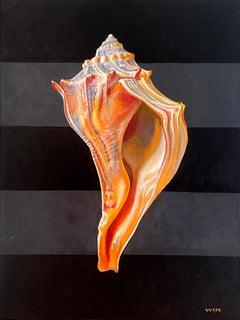 """Welk"" - shell painting, still life, realism - Georgia O'Keeffe"
