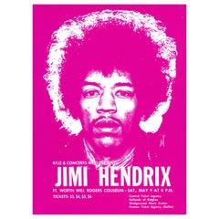 Jimi Hendrix Original Vintage Concert Handbill Poster, Ft. Worth, Texas, 1970
