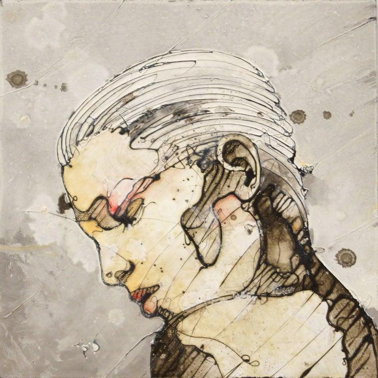 Original Portrait Art 'Faces 5' Abstract Portrait Art, Urban Expressionist Piece