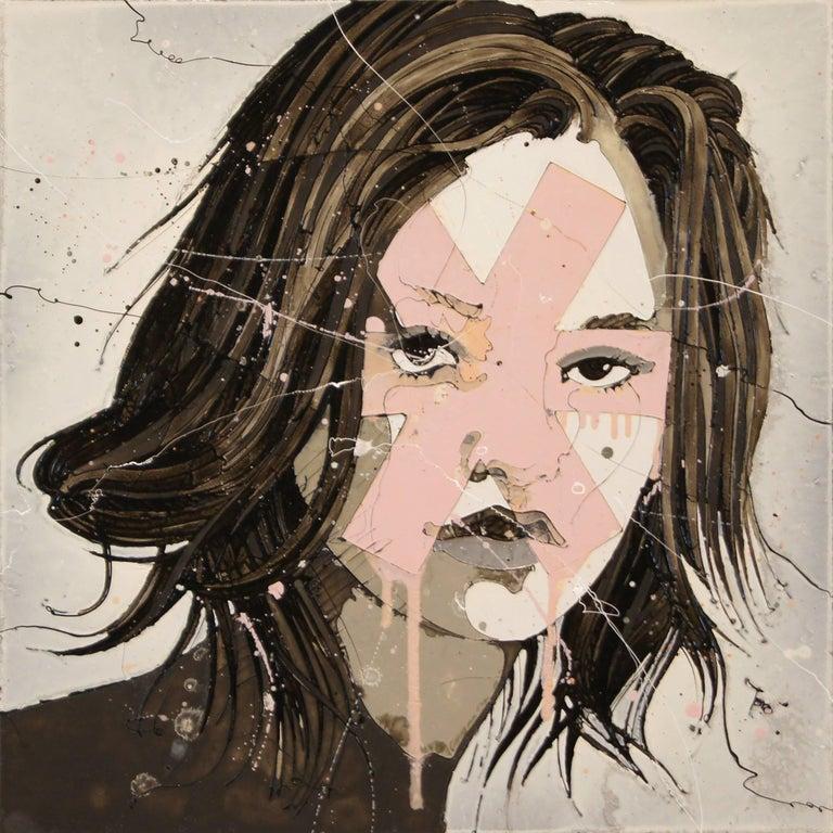 Original Portrait Art 'Kyra' Abstract Female Art, Urban Expressionist Painting