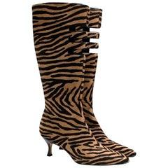 Jimmy Choo animal print calf hair boots - Size EU 38.5