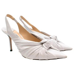 Jimmy Choo Annabell 85 leather slingback pumps 39.5