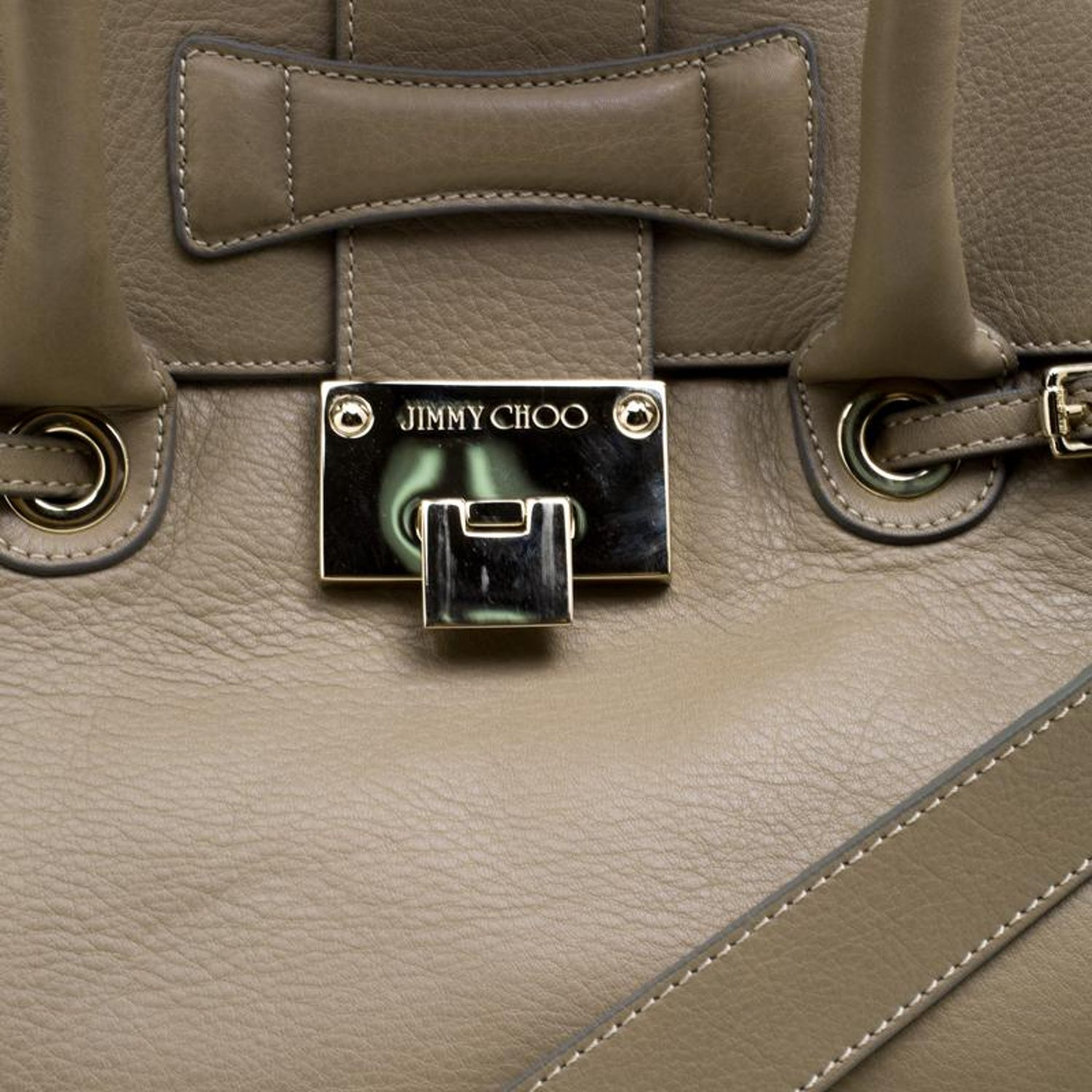 243549d181 Jimmy Choo Beige Grainy Leather Rosalie Top Handle For Sale at 1stdibs