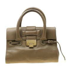Jimmy Choo Beige Leather Small Rosalie Sacthel