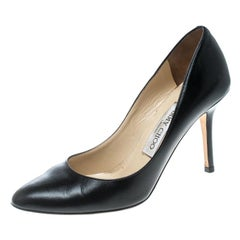Jimmy Choo Black Leather Gilbert Pumps Size 36