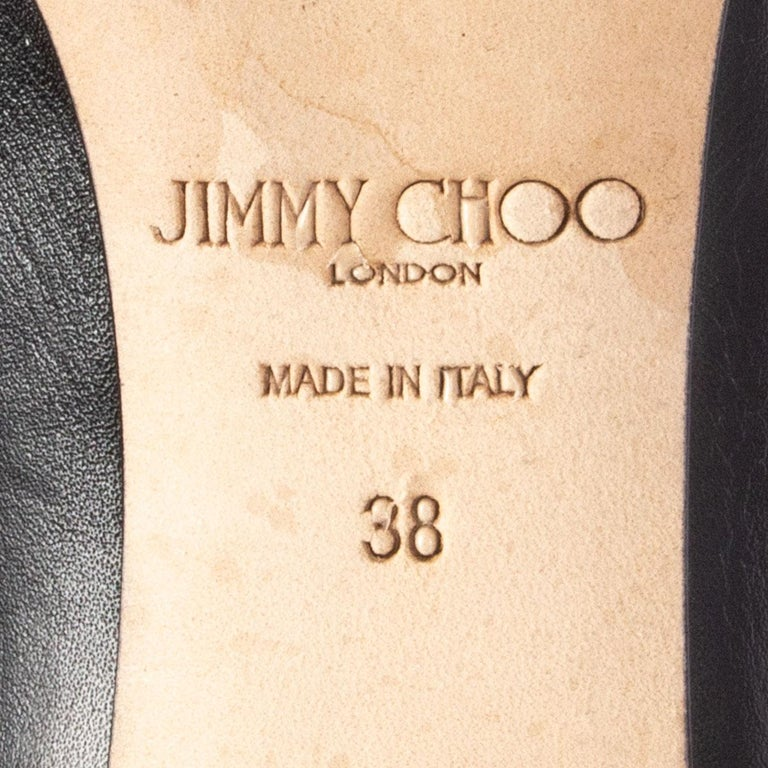 JIMMY CHOO black leather MAHESA Boots Shoes 38 1
