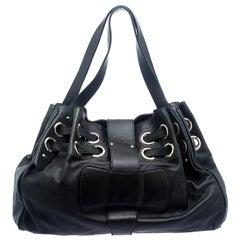 Jimmy Choo Black Leather Riki Tote