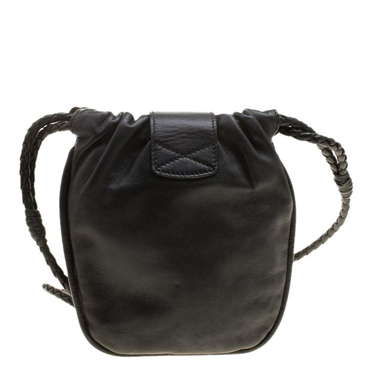 Women's Jimmy Choo Black Leather Sequin Embellished Crossbody Bag For Sale
