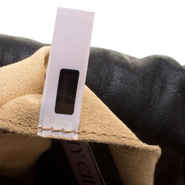 Jimmy Choo Black Leather Sequin Embellished Crossbody Bag For Sale 5