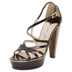 Jimmy Choo Black Platform Sandals Size 37.5