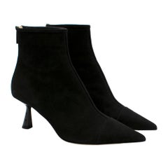 Jimmy Choo Black Suede Kix 65 Ankle Boots 40.5