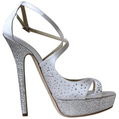Jimmy Choo Bridal Crystal Cross Over heels Sandals