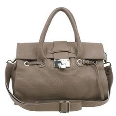 Jimmy Choo Brown Grainy Leather Rosalie Top Handle