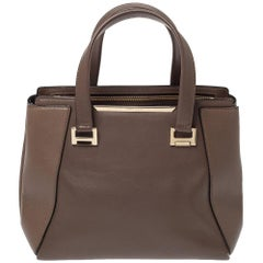 Jimmy Choo Brown Leather Alfie Tote