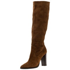 Jimmy Choo Brown Suede Honor Knee Length Boots Size 39
