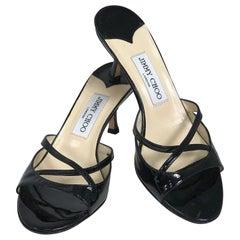 Jimmy Choo Calais.1 Black Patent  High Heel Mules 37