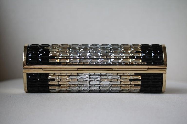 Black Jimmy Choo Celeste crystal embellished Cosma Clutch For Sale