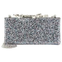 Jimmy Choo Celeste S Box Clutch Glitter Fabric