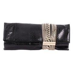 Jimmy Choo Chandra Chain Clutch Snakeskin