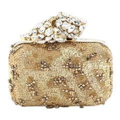 Jimmy Choo  Cloud Crystal Knot Clutch Crystal Embellished Satin