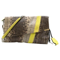 Jimmy Choo Elaphe Snakeskin Striped Shoulder Bag