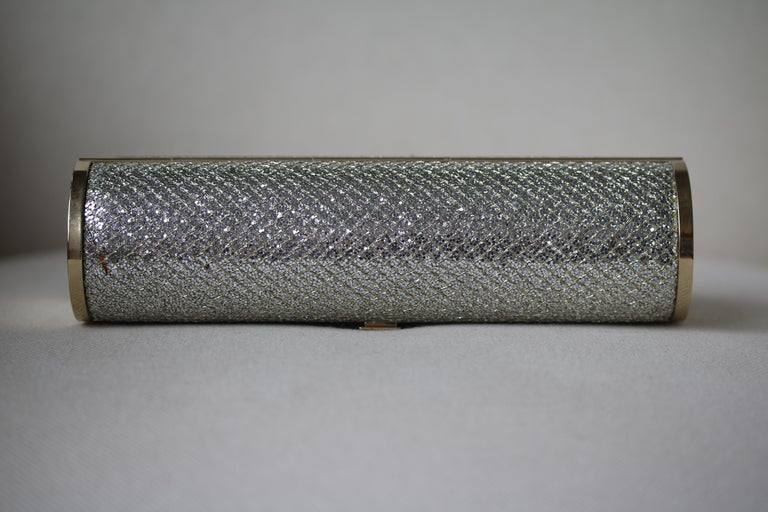 Jimmy Choo Glitter Cosma Clutch In Excellent Condition For Sale In London, GB