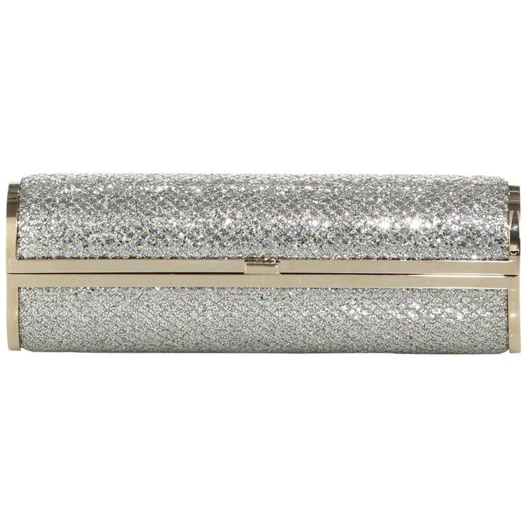Jimmy Choo Glitter Cosma Clutch For Sale