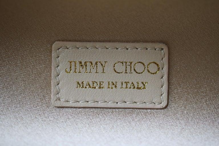 Jimmy Choo Gold Disco Bars Cylinder Cosma Clutch For Sale 5