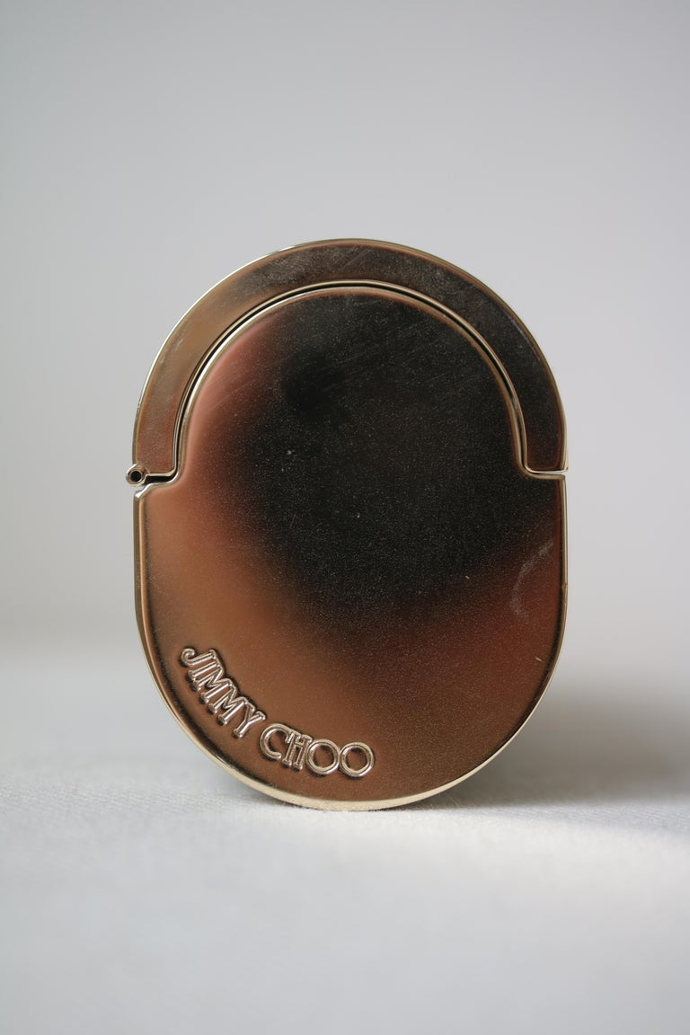 Jimmy Choo Gold Disco Bars Cylinder Cosma Clutch For Sale 3