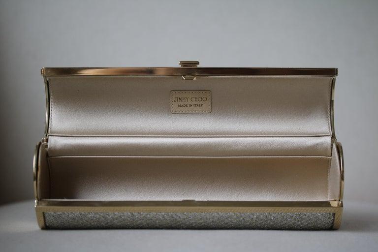 Jimmy Choo Gold Disco Bars Cylinder Cosma Clutch For Sale 4