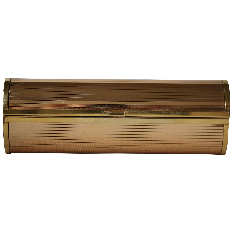 Jimmy Choo Gold Disco Bars Cylinder Cosma Clutch