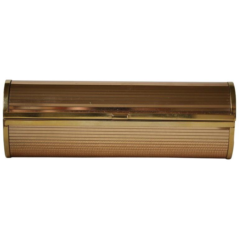 Jimmy Choo Gold Disco Bars Cylinder Cosma Clutch For Sale