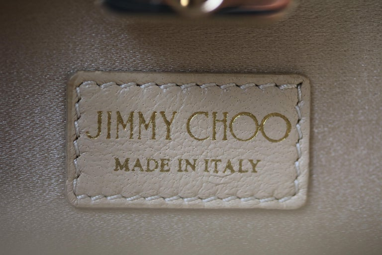 Jimmy Choo Gold leather Clutch For Sale 3