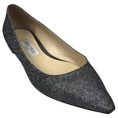 Jimmy Choo Gun metal Pointed Flats-39