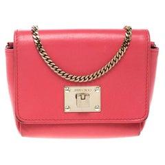 Jimmy Choo Hot Pink Leather Mini Ruby Crossbody Bag