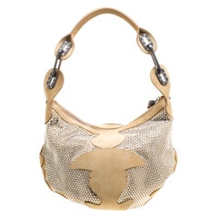 Jimmy Choo Light Brown Suede Swarovski Grant Hobo