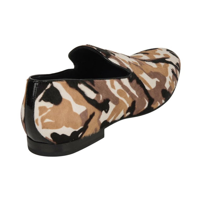 Jimmy Choo Men's Sloane Camouflage Printed Calf Hair Loafer 43 / 10   For Sale 1