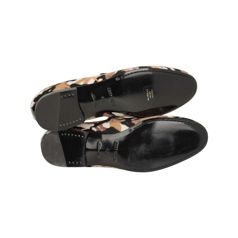 Jimmy Choo Men's Sloane Camouflage Printed Calf Hair Loafer 43 / 10   For Sale 3
