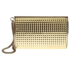 Jimmy Choo Metallic Gold 3D Effect Leather Carmen Clutch