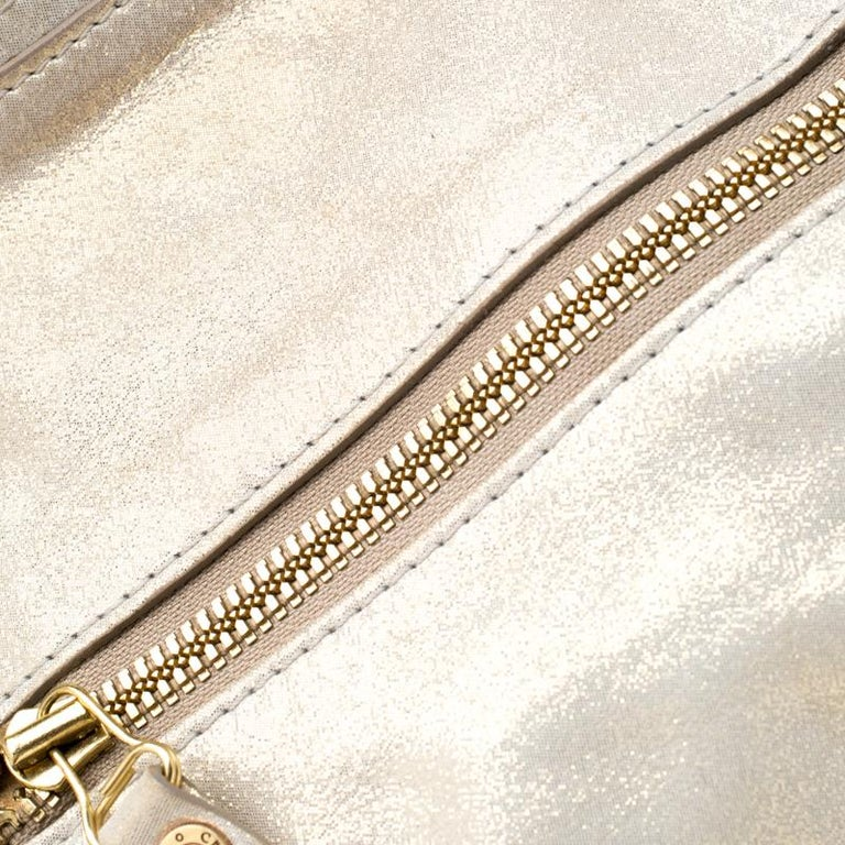Jimmy Choo Metallic Leather Malena Satchel For Sale 5