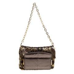 Jimmy Choo Metallic Multicolor Sequin Chain Shoulder Bag