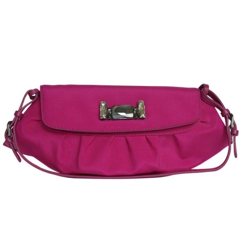 JIMMY CHOO Mini Bag in Magenta Pink Satin