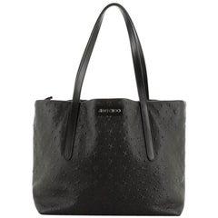 Jimmy Choo Pimlico Handbag Embossed Leather Medium