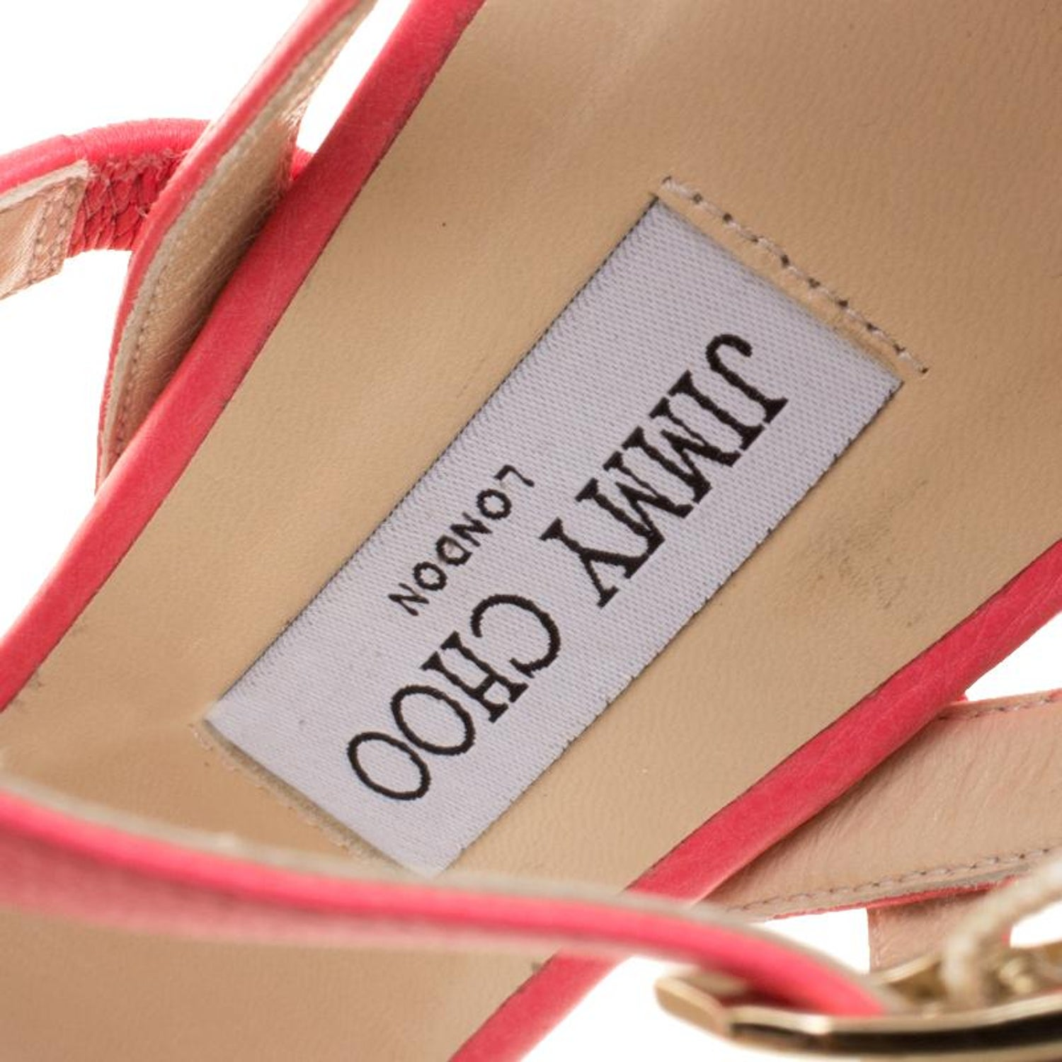 839be958d25 Jimmy Choo Pink Leather Dose Ankle Strap Sandals Size 41 For Sale at 1stdibs