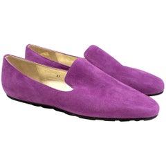 Jimmy Choo Purple Suede Loafers 37 (IT)