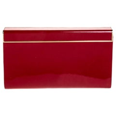 Jimmy Choo Red Patent Leather Carmen Clutch